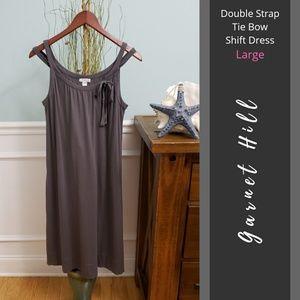Garnet Hill | Double Strap Tie Bow Shift Dress